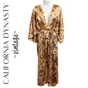 CALIFORNIA DYNASTY Vintage Floral Kimono Robe, 1X